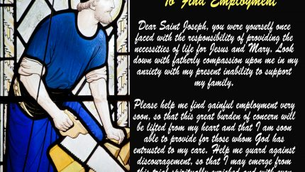 Prayer to St. Joseph the Worker