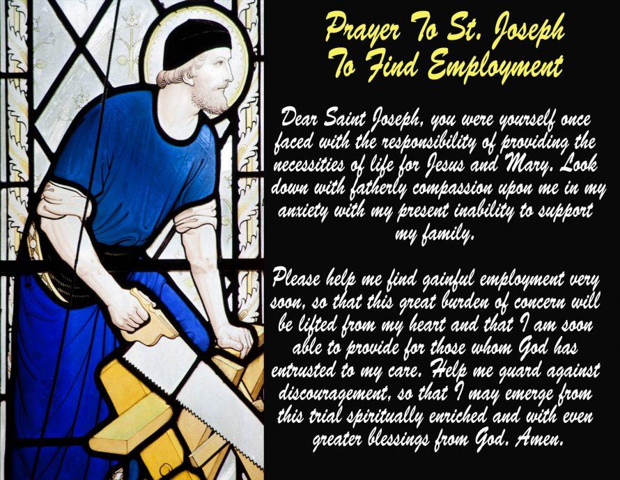Prayer to St. Joseph the Worker