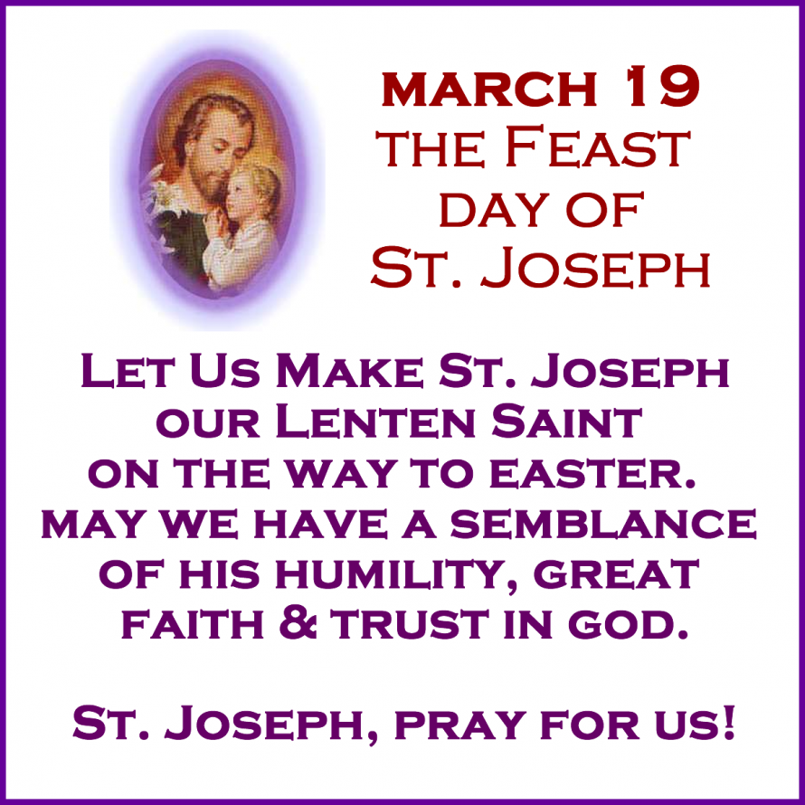 St. Joseph's Feast Day